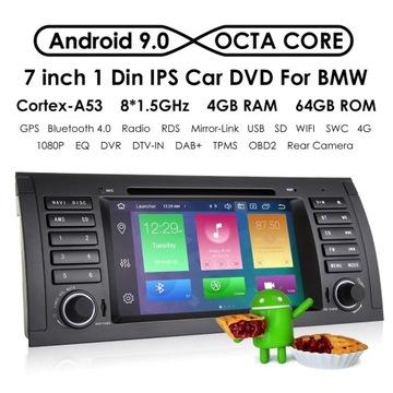RADIO 2 DIN ANDROID BMW E39 M5 X5 E53