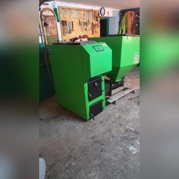 Eko kocioł Pellets Fuzzy Logic 25 kW z podajnikiem