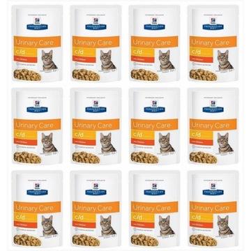 Hill's PD Feline c/d Urinary Care Kurczak 12x85g