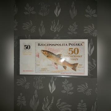 Projekt Banknotu 50zł.Niski numer.