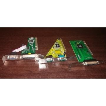 Karty rozszerzeń PCI COM RS232 lub LPT
