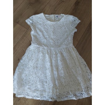 Sukienka H&M 140 ecru