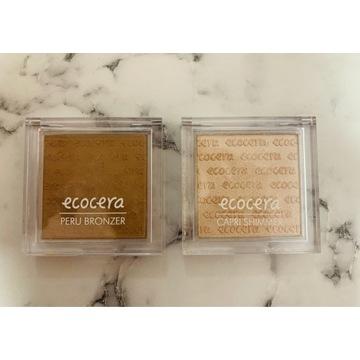 Ecocera Bronzer Peru + rozświetlacz Capri
