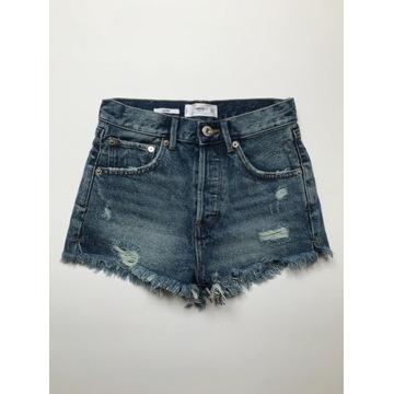 Krótkie spodenki/szorty mom jeans MANGO 32/XXS
