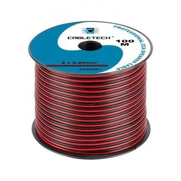 Kabel zasilający  CCA 2 x 0,20mm 2mb (Głośnikowy)