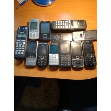 NIESPRAWNE telefony komórkowe różne modele 20 szt.