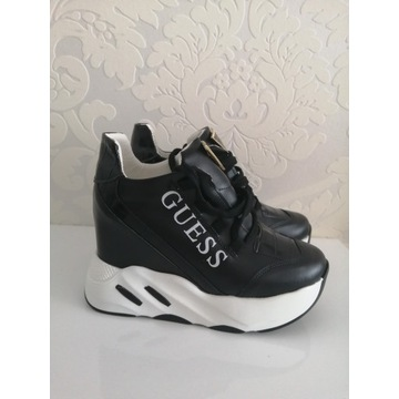 Sneakersy GUESS buty sportowe koturna