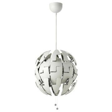 Lampa wisząca (żyrandol) biało-SREBRNY // IKEA