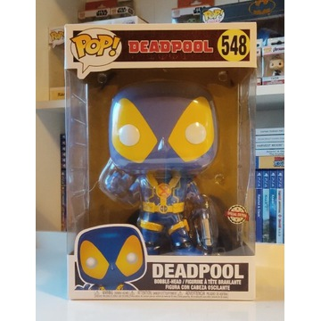 FUNKO POP ! Deadpool Thumbs Up Blue 548 Exclusive