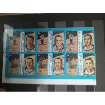 Znaczki pocztowe - blok znaczków kosmos
