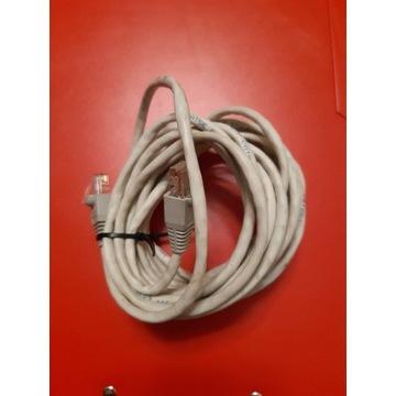 Kabel sieciowy biały 5 m.