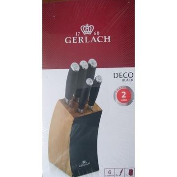 Noże w bloku zestaw Gerlach Deco Black
