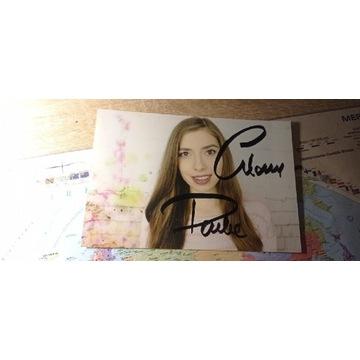 Autograf znanej youtuberki GlamPauli
