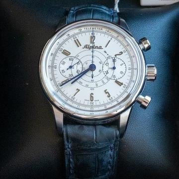 Zegarek chronograf Alpina 130 Heritage Pilot