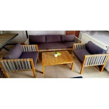 Zestaw ogrodowy Sofa+ 2 fotele+ stolik