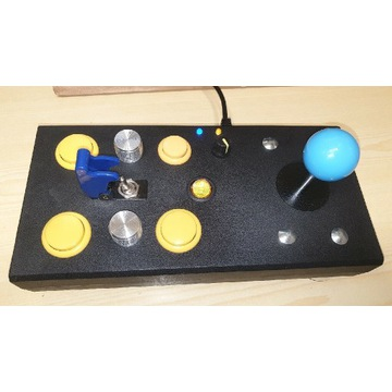 Arkadowy joystick ATARI z wiosełkami i 3 fajerami