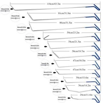 Zestaw PDR heble łyżki do wgniecen Kompletny
