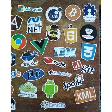 Naklejki programista, geek, it