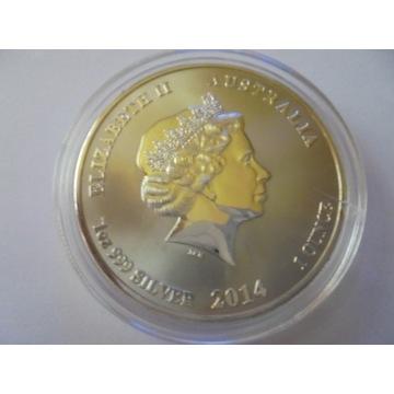 1 dolar, Australia, 2014, Ag 999 -  WYPRZEDAŻ