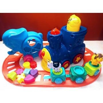 Zestaw zabawek ciuchcia Fisher Price tory kształty