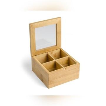 Pudełko na herbatę TEA herbaciarka bambus