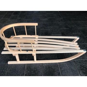 Drewniane sanki z oparciem -hit
