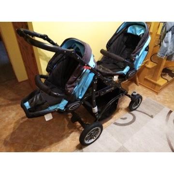 Wózek BabyAktiwe Twinni 3x1 cały komplet