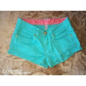 Zielone Spodenki Jeans r6/34