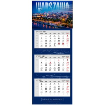 Kalendarz Warszawa 2021 (Drone in Warsaw)