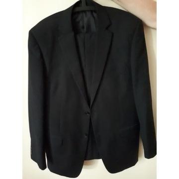 Czarny garnitur męski r 52 + drugie spodnie C&A