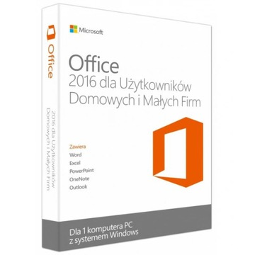 NOWY Office 2016 Home & Business PL BOX F-VAT 23%