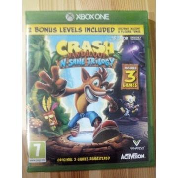 Crash Bandicoot Trilogy Xbox one na płycie