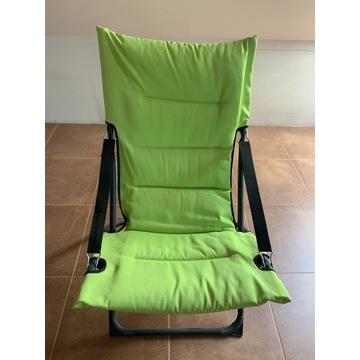 Rozkładane krzesło ogrodowe/plażowe zielone