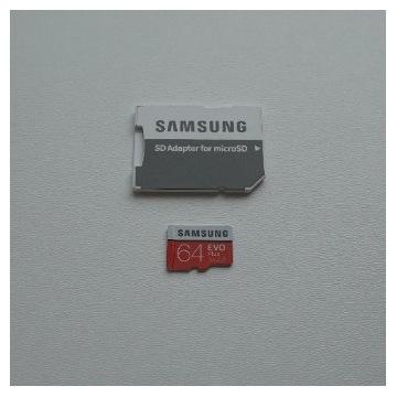 Karta micro SD XC Samsung 64GB Evo Plus + adapter