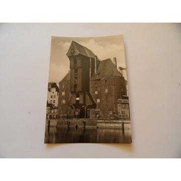 GDAŃSK Żuraw piękna foto pocztówka lata 30-te