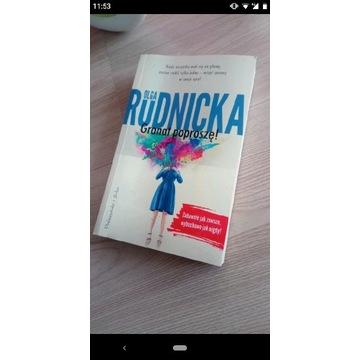 """"""" Granat poproszę """" Olga Rudnicka"""