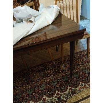Solidny stół + 6 krzeseł