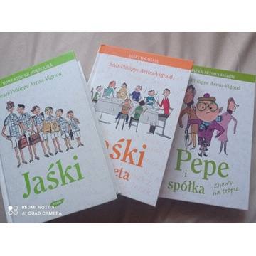 Jaśki, Jaśki Repeta, Pepe i spółka 3 tomy, zestaw