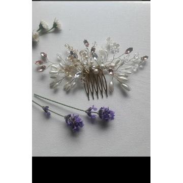 Grzebyk ozdoba do włosów spinka