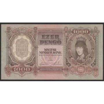Węgry 1000 pengo 1943 - F071 - stan 1/2