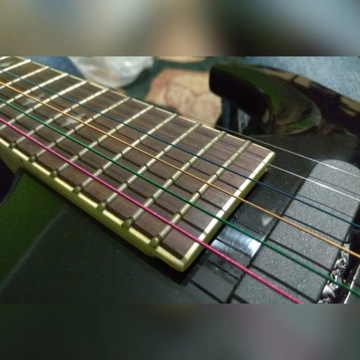 Kolorowe struny do gitary akustycznej, stalowe