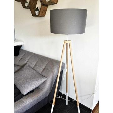 LAMPA TRÓJNÓG,  tripod, walec, podłogowa, stołowa