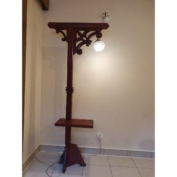 Lampa drewniana ręcznie rzeźbiona