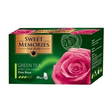 Zielona herbata z płatkami róży 30G