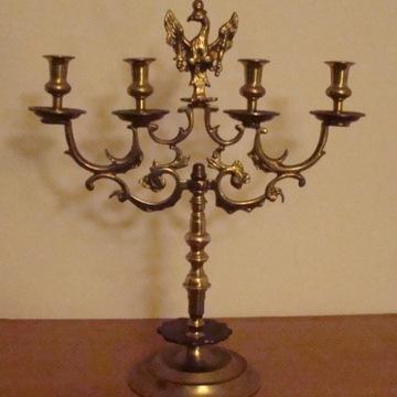Bardzo piękny świecznik księstwo warszawskie.