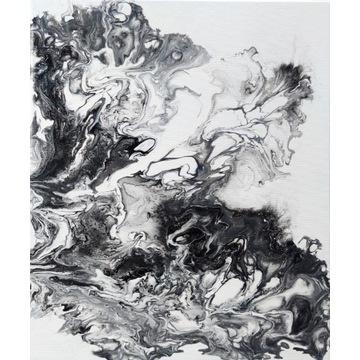 Obraz ręcznie malowany kwiaty abstrakcja 50 x 60