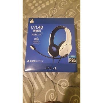 Słuchawki PDP LVL40 Wired PS4/PS5 - białe