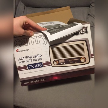 RADIO RETRO CAMRY CR 1126 AM/FM USB/SD MP3 MOC 6W