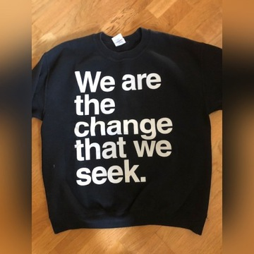 Bluza czarna we are the  change