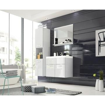 Łazienka słupek + szafka z umywalką + lustro